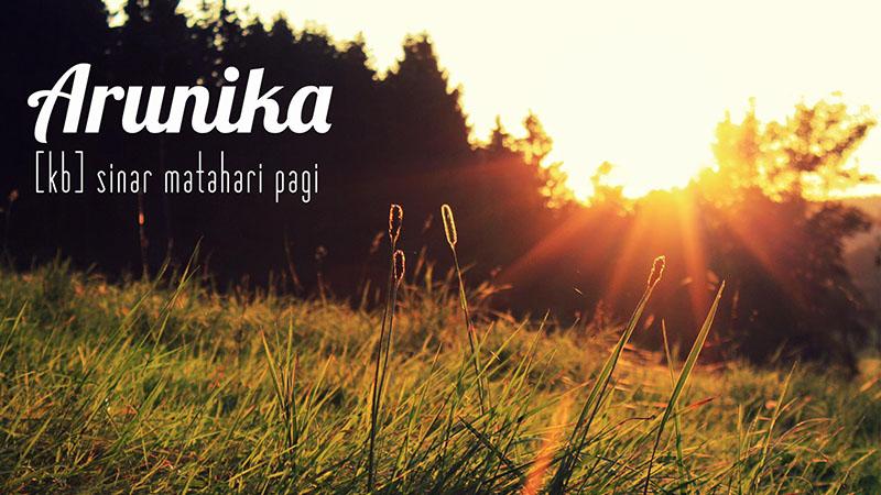 arunika, salah satu kata yang ditawarkan pasar bahasa (facebook)