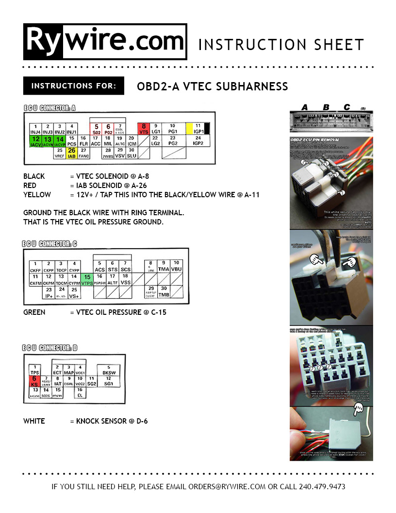 hight resolution of obd2a vtec subharness instruction rywire blog motorsports wiring vtec obd2a