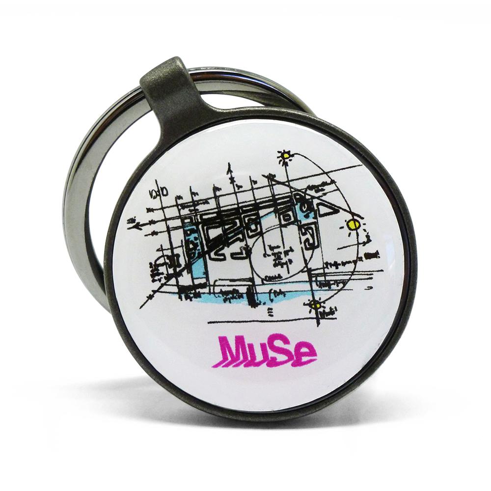 portachiavi-rotondo-schizzo-Renzo-Piano-Muse