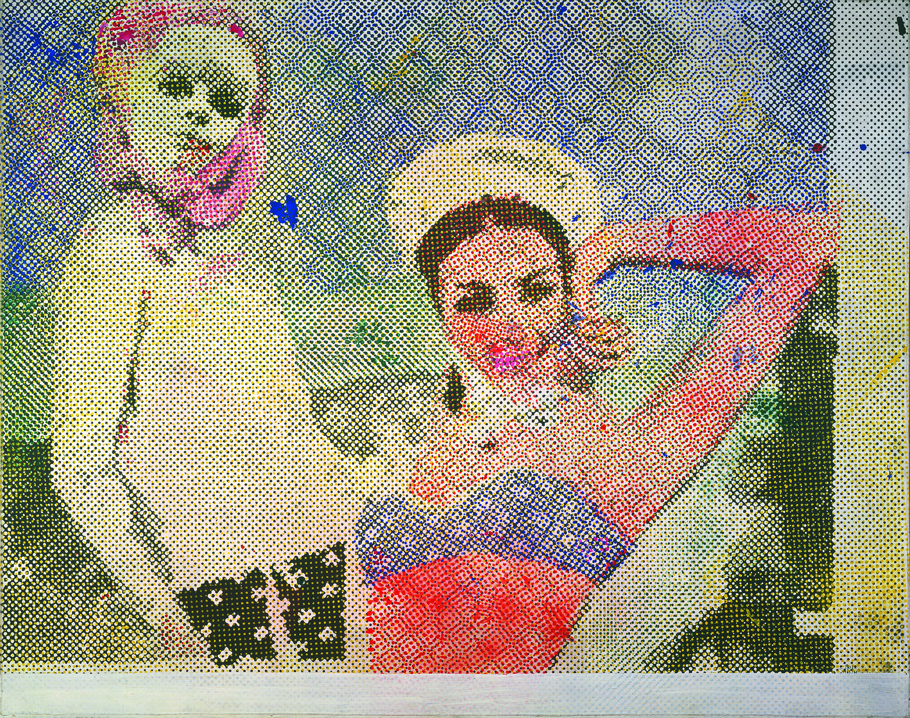 Sigmar Polke, Girlfriends, 1965-6 The estate of Sigmar Polke / DACS, London / VG Bild-Kunst, Bonn