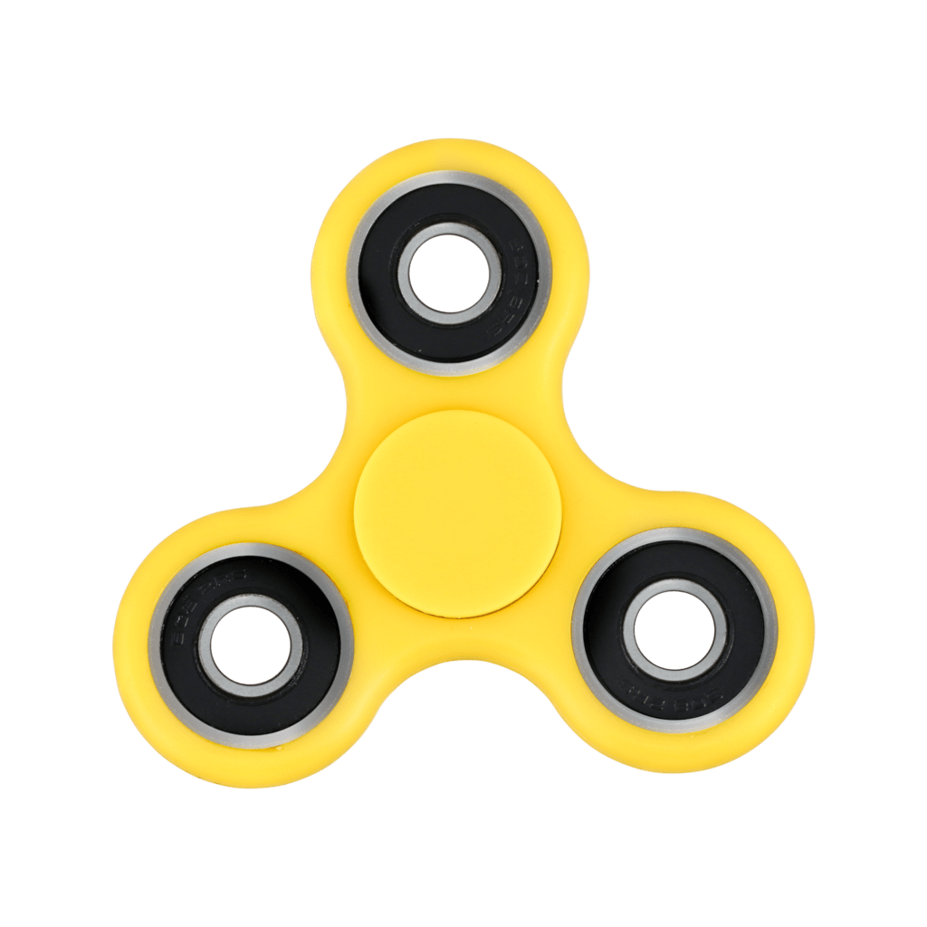 Yellow Fidget Spinner
