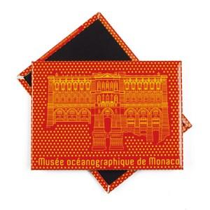 Magnete personalizzato con immagine del palazzo per il Museo Oceanografico di Monaco