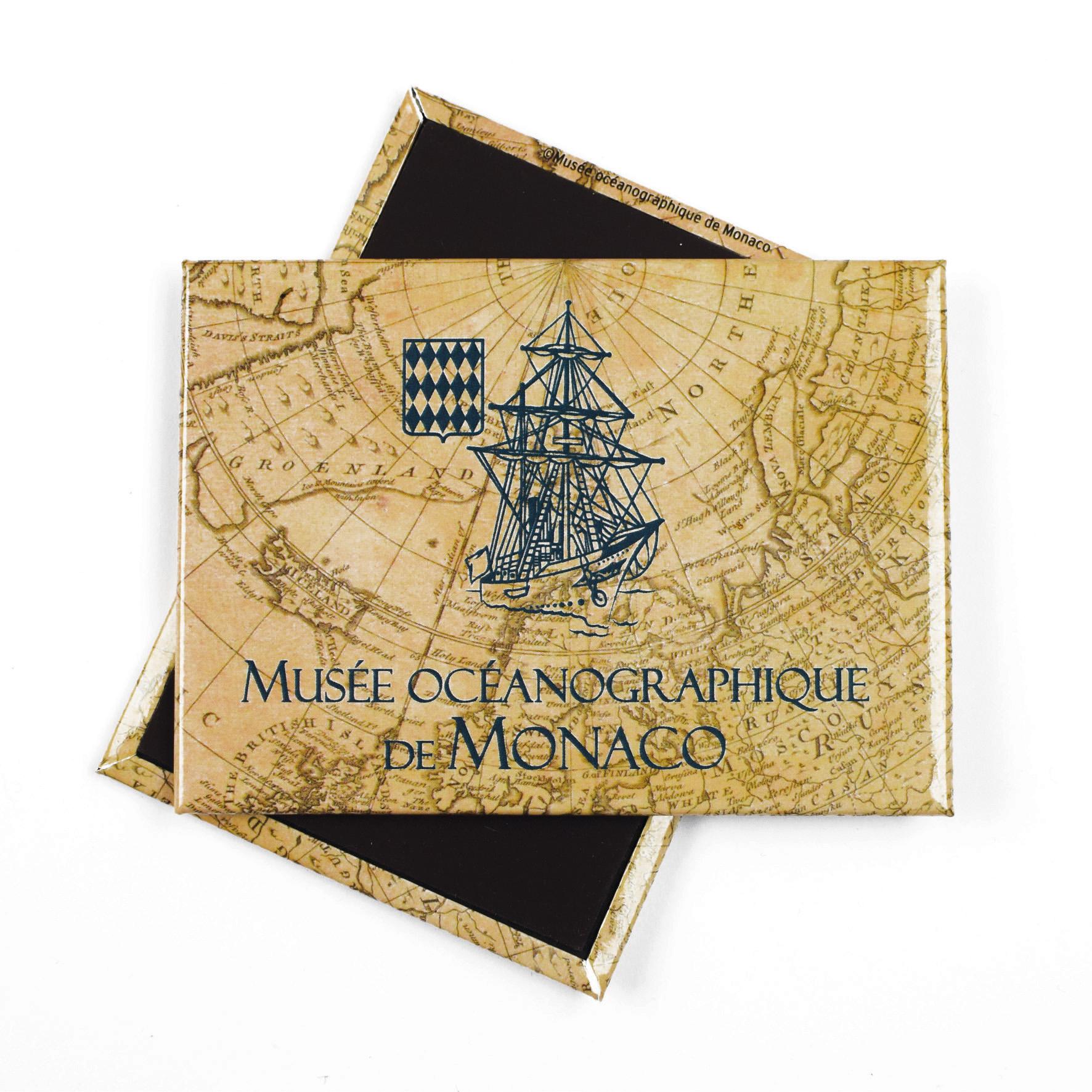 Magnete personalizzato con veliero del Museo Oceanografico di Monaco
