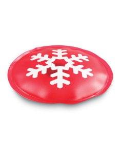 Cuscinetto riscaldante rosso con motivo natalizio