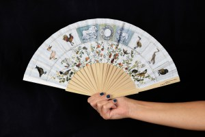 Ventaglio personalizzato con stampa digitale in sublimazione realizzata per l'Accademia di Francia a Roma