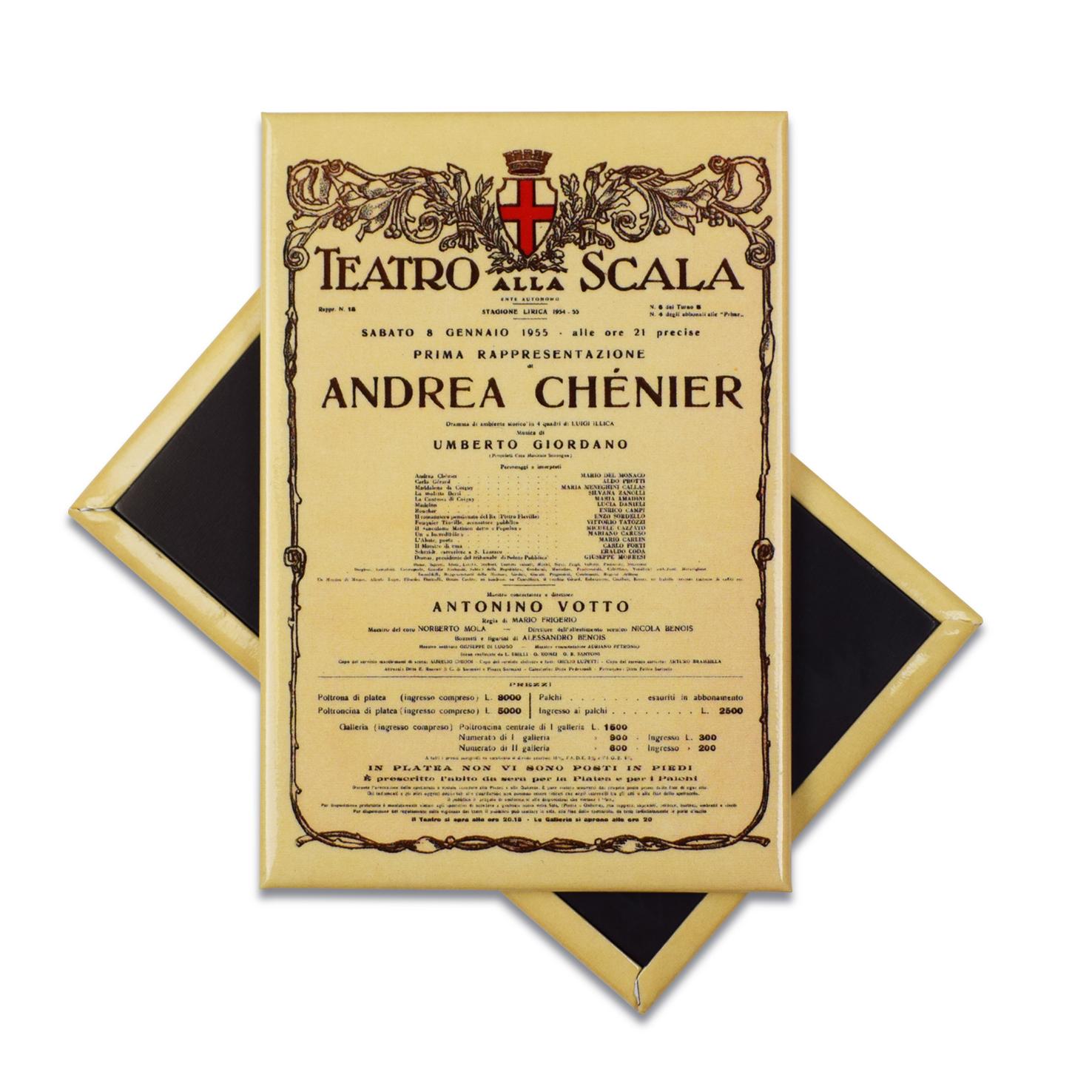Magnete personalizzato con l'opera Andrea Chenier