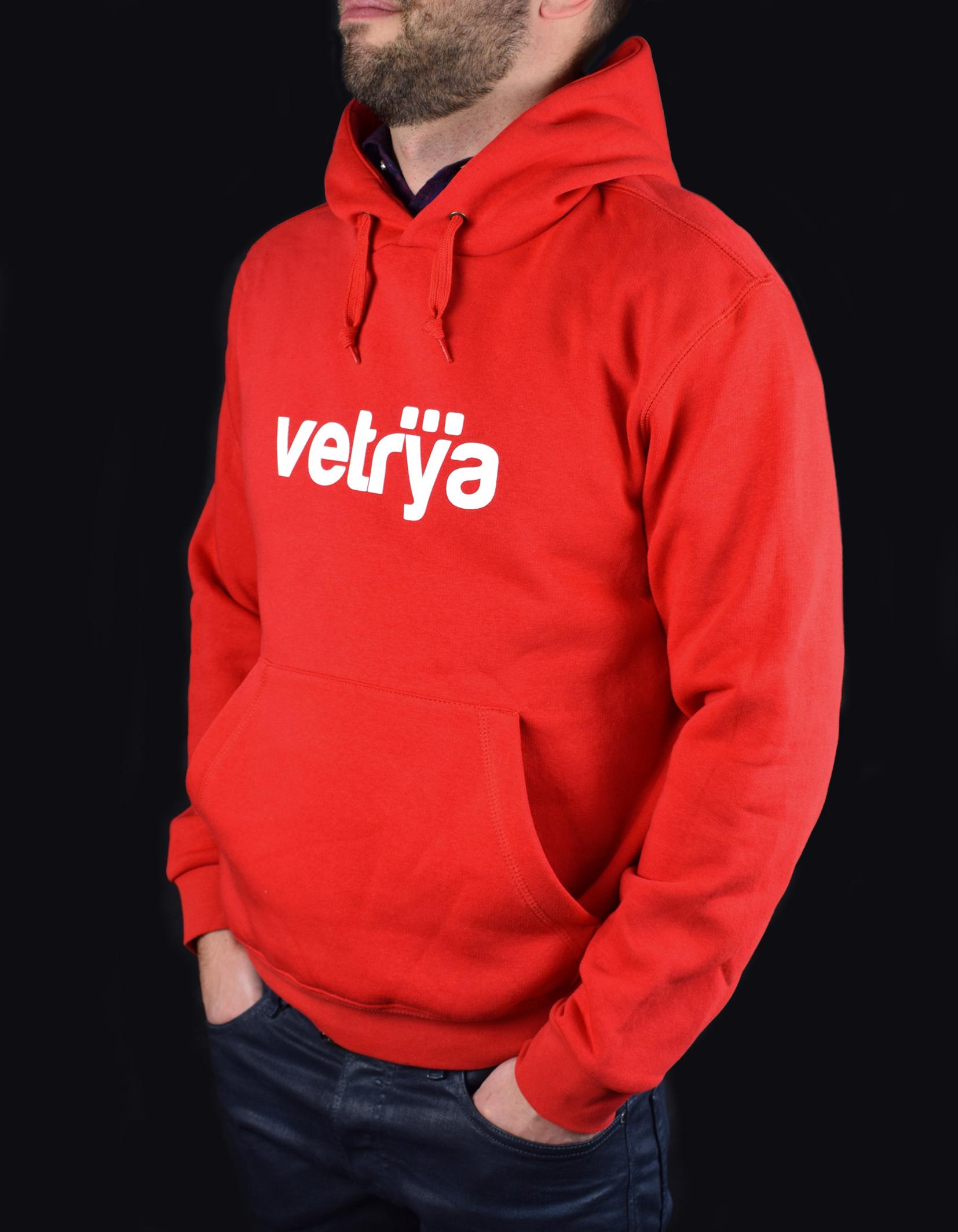 Felpa rossa logo Vetrya