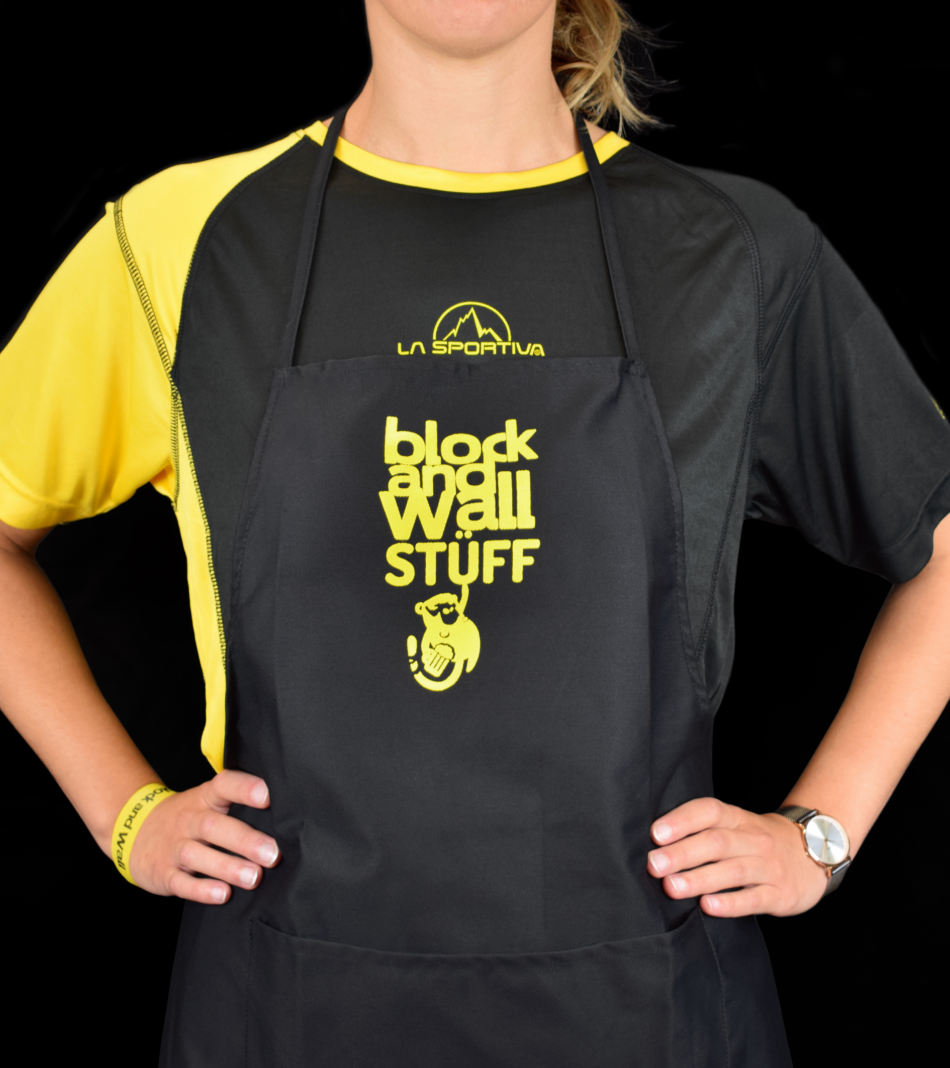 Grembiule personalizzato Block and Wall La Sportiva