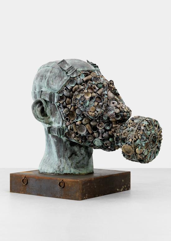 'Gandhi's Three Monkeys' by Subodh Gupta