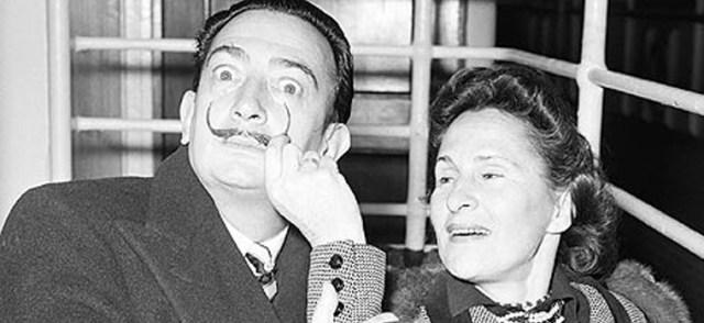 Salvador Dali' and Gala Eluard.