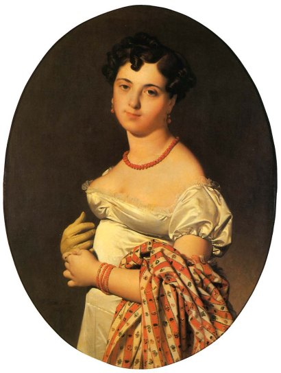 'Madame Panckoucke' by Ingres, 1811, draped with a striped Kashmir shawl. (Photo courtesy: Musée du Louvre, Paris)