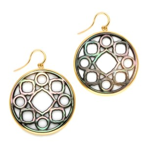 SYNA MOGUL SIGNATURE MOTHER OF PEARL EARRINGS