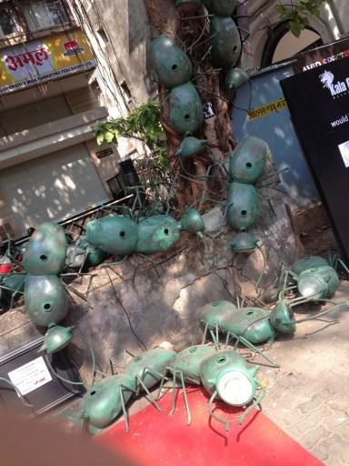 Paresh Maity, Ants, Scrap Metal, Mumbai 2013