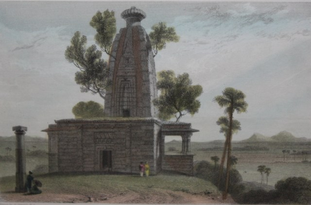 Hindoo Temple at Muddunpore, Bahar, William Daniell. Image Credit: https://www.saffronart.com/TheStory/ItemV2.aspx?iid=35285