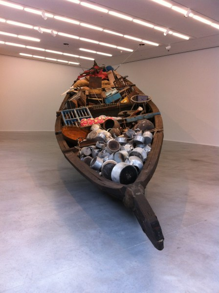 What does the vessel contain, that the river does not, Subodh Gupta, 2012