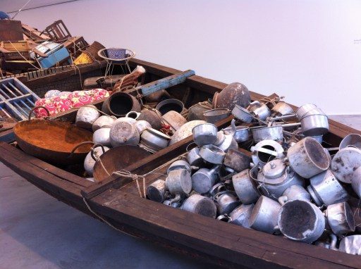 "Detail of ""What does the vessel contain, that the river does not"", Subodh Gupta, 2012"