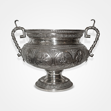 Madras Silver Large Two-handled Vase c.1890. http://www.saffronart.com/fixedjewelry/PieceDetails.aspx?iid=36007&a=