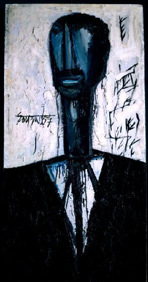 Negro in Mourning, F.N. Souza