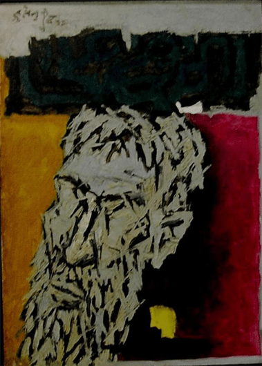 M F Husain, Maqbool, Oil and Acrylic on Canvas