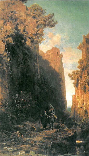 "German Romantic Carl Spitzweg's ""Die Flucht nach Ägypten"" Source: Wikipedia"