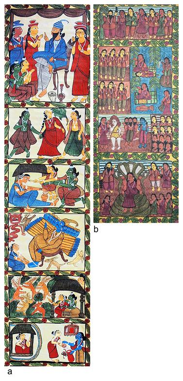 Lot 86, Jabbar Chitrakar and Unknown artist, Bengal Scroll https://www.storyltd.com/auction/item.aspx?eid=3741&lotno=86