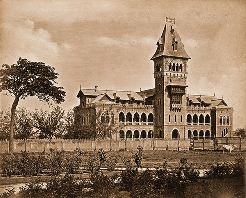 The Railway Hospital in Byculla, 1870