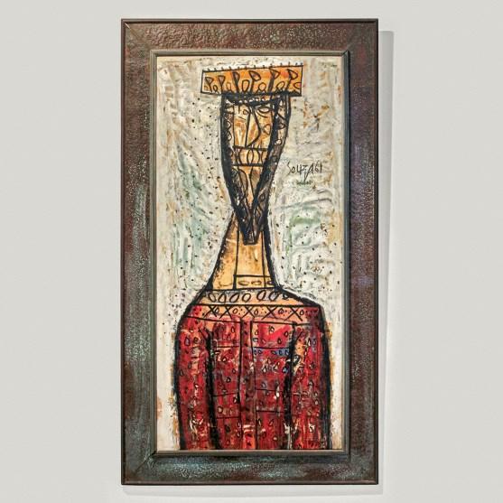 F N Souza, The Herald, oil on canvas, 1961 Saffronart, 6 – 7 June 2017, lot 56 Estimate: 1.9 – 3.2 crores ($ 300,000 - $ 500,000)