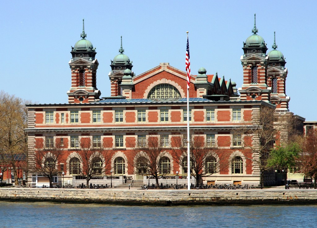 ellis island to see from boat