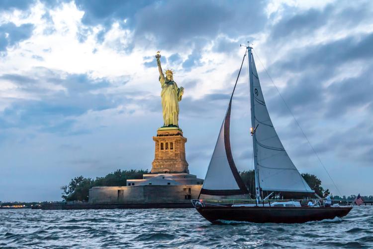 sail boat hinckley in NY