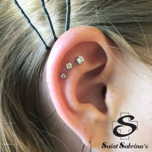 Triple helix/flat piercings
