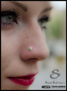nostril piercing with sunday jewelry by BVLA