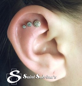 triple helix piercings