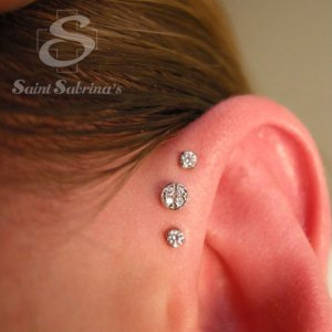 triple forward helix jewelry from Saint Sabrina's in Minneapolis