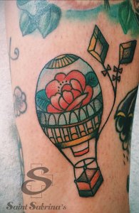 balloon tattoo by Taylor Dees