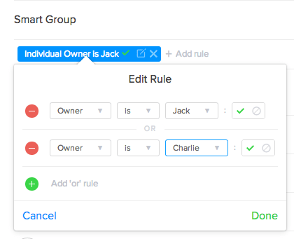Smart Group Or Rules