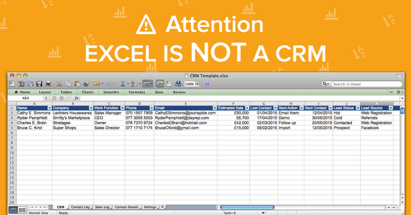 CRM-spreadsheets-Excel