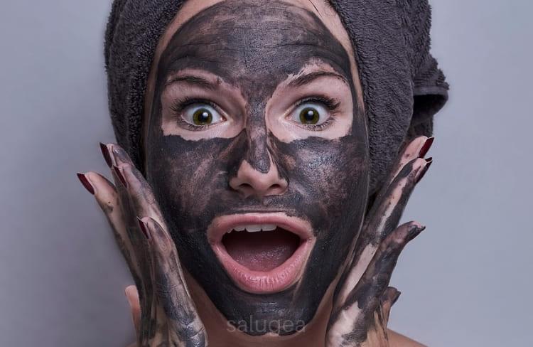 maschera con argilla verde