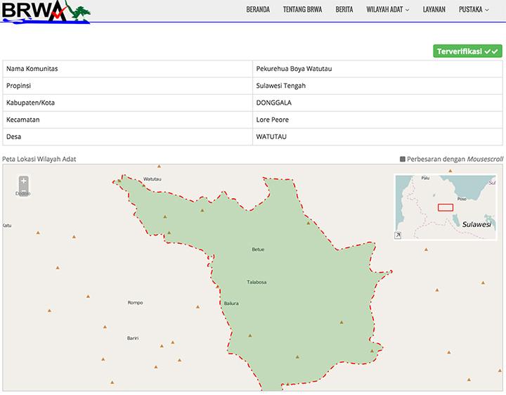 Registrasi dan Verifikasi 30 Wilayah Adat di Sulawesi Tengah