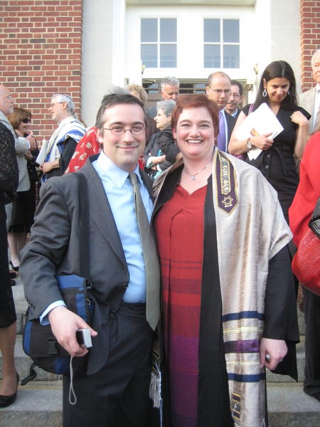 Michael Rose and Heidi Hoover after Heidi's ordination