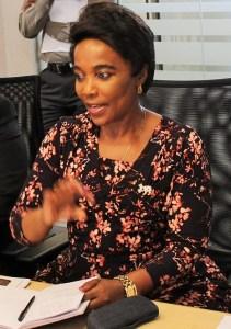 National Department of Transport deputy Minister, Ms Sindisiwe Chikunga