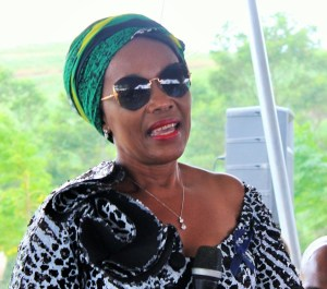National Transport Department deputy Minister, Ms Sindisiwe Chikunga, paying tribute to Ms Nhlumayo during her funeral service in Port Shepstone on Saturday, 20 February 2016.