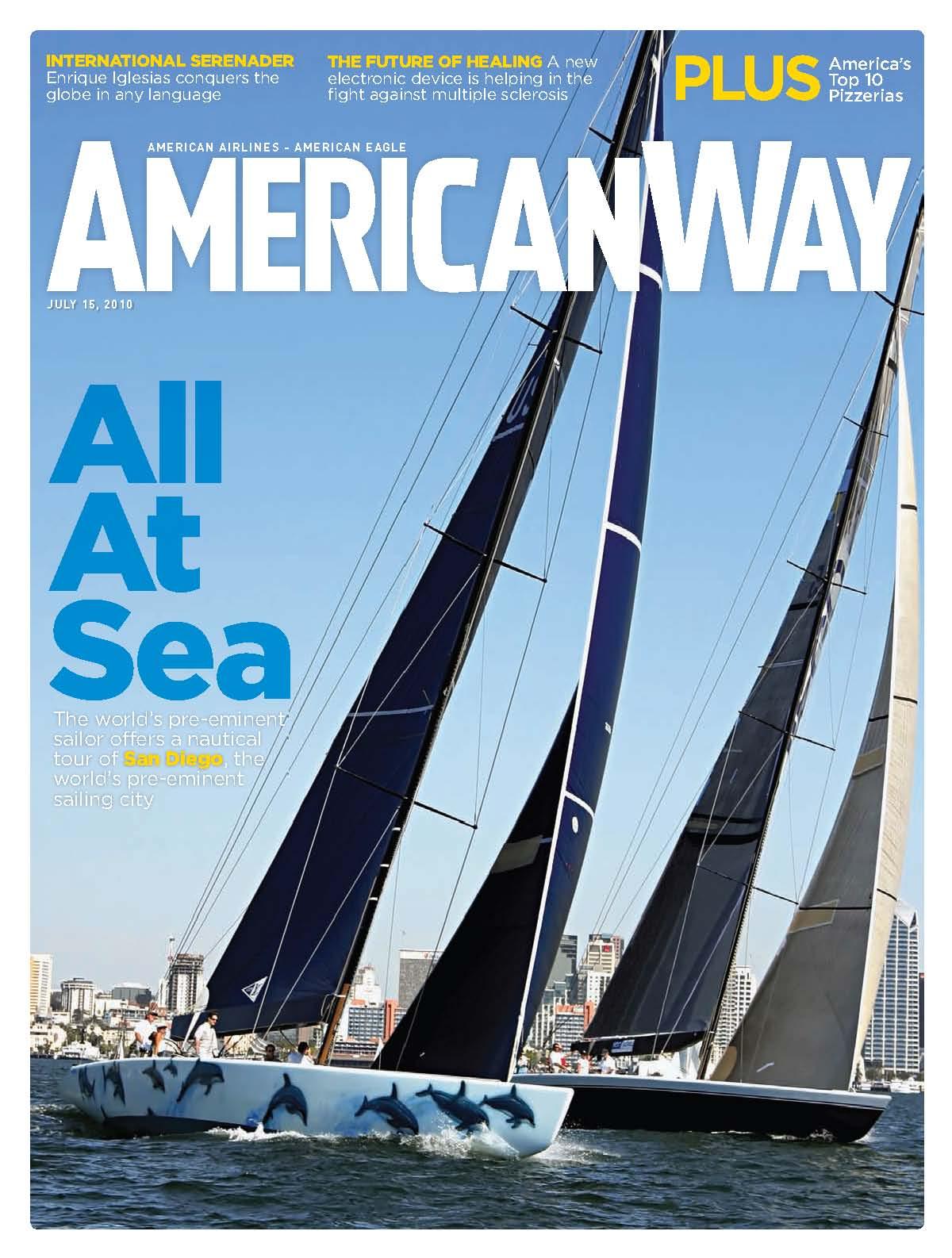 American Way San Diego Sailing Cover - San Diego Travel Blog