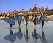 Surfing Coronado Beach Credit Hotel Del