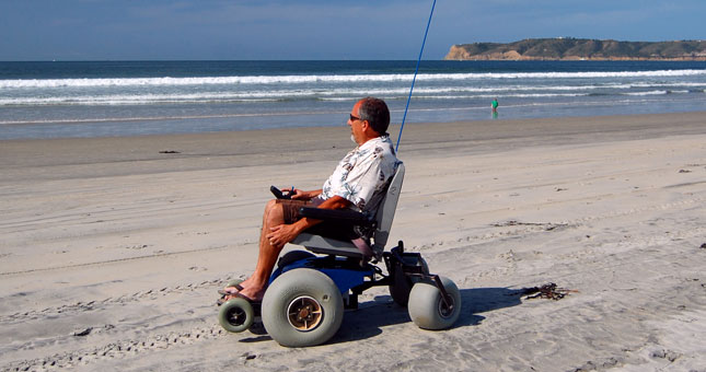 San Diego Offers Free Use of Beach Wheelchairs in Mission
