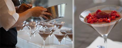 Dessert al cioccolato e caffè con fragole all'aceto balsamico (foto G. Frassi)