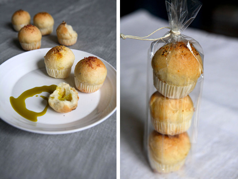 Pane ai 7 sali e olio di pistacchio (foto Stefania Sainaghi)