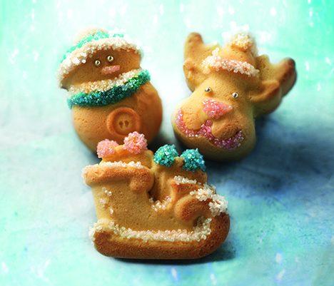 dolcetti realizzati con lo stampo in silicone Funny Christmas di Silikomart