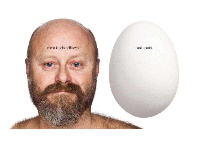 """Paolo Parisi """"ci ha messo la faccia"""", anche sul packaging delle uova   ©Oliviero Toscani Studio"""