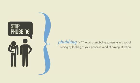 phone snubbing phubbing