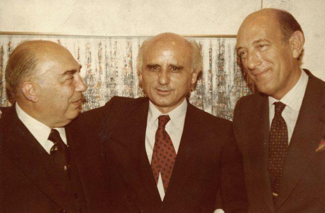 Professor Juvenal Esteves, Cargaleiro and Francisco Pereira Coutinho in December of 1981